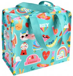 Covered in a fun and bright Top Banana print, this quirky fabric zip up bag will be just what you need when out and abou