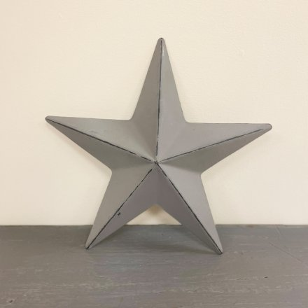 Ridged Grey Star, 20cm