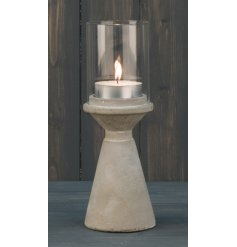 A luxe themed concrete based candelabra set with a contemporary charm