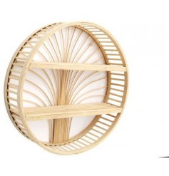 Sure to bring a simplistic setting to any home needing an additional storage solution, a bamboo based round shelf unit
