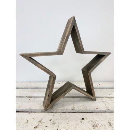 Rustic Wooden Star, 36cm