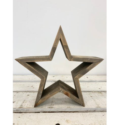 A Rustic Design Wooden Cut Out Star
