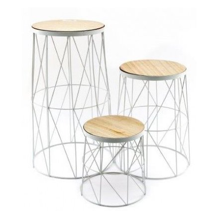 Geo Wire Set of Tables, 53cm