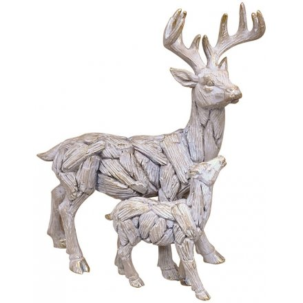 Stag & Baby Driftwood Ornament