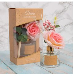 Oud and Bergamot to your home while also displaying a gorgeous floral feature with this charming Desire Diffuser