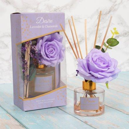 100ml Desire Floral Diffuser, Lavender & Camomile