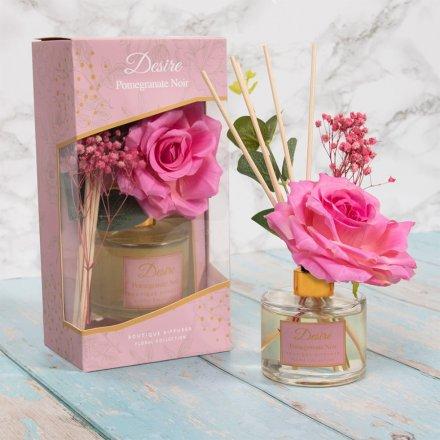 100ml Desire Floral Diffuser, Pomegranate Noir