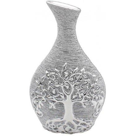 Silver Tree Decorative Vase, Small