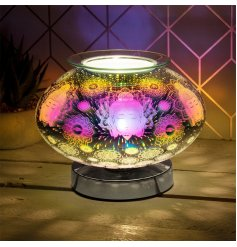 A gorgeous rounded touch sensitive LED Wax Burner with a beautiful 3D projected Light display