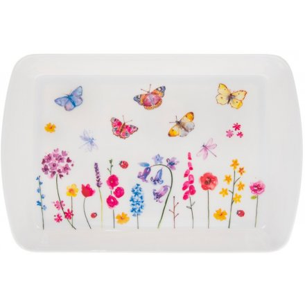 Floral Butterflies Tray, Small