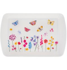 A small shaped serving tray from the Floral Butterflies Range