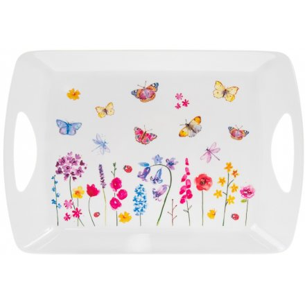 Floral Butterflies Tray, Large