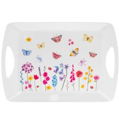 A rectangular shaped serving tray from the Floral Butterflies Range