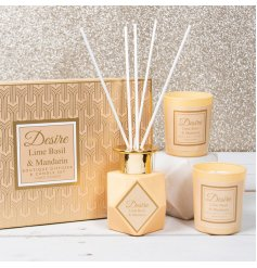 A beautifully presented Gift Set full of delightfully fragranced candles and diffuser