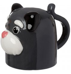 An intentionally designed Upside Down Mug featuring a Dog Squad design