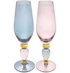 An assorted set of chic and stylish Flute Wine Glasses