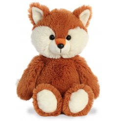 a super soft, huggable and snuggable soft toy in a cute fox form