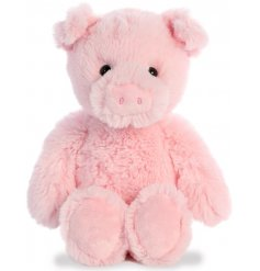 a super soft, huggable and snuggable soft toy in a cute piggy form
