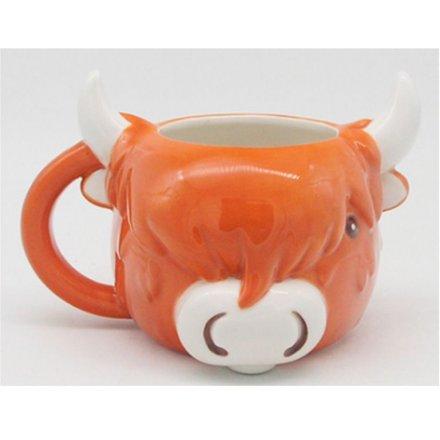 Quirky Highland Cow Mug