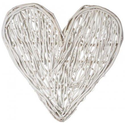 White Twig Heart, 60cm