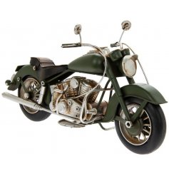 A classic Green Motorbike Ornament from the Leonardo Range