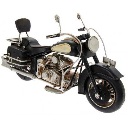 Classic Black Motorbike, 28cm