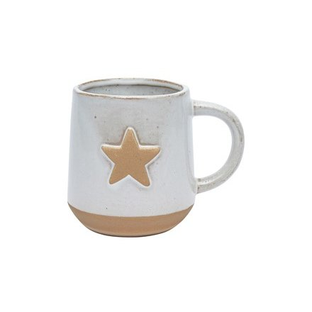 Stoneware Star Mug, Off White