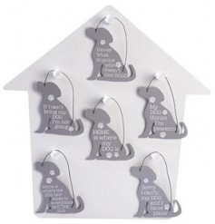 A quirky variety of hanging mini plaques based on our four pawed friends
