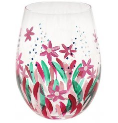 this hand painted glass is sure to bring a Spring touch to your kitchen