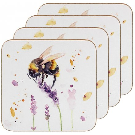 Set of Country Charm Coasters, Bumble Bees