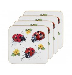 A delightfully themed set of cork based coasters from the Country Charm range