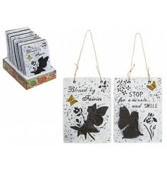these cement plaques are perfect for hanging in any home or garden space wanting a magical touch