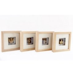 Sure to bring an ontrend Boho feel to any wall space of your home, a mix of wooden box frames with dried grass in each
