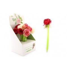 A charming and dainty assortment of writing pens with floral blooms on top for decoration