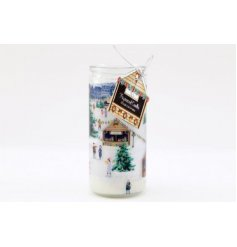 this small tube candle is a must have for the home during Christmas