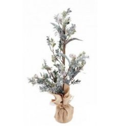 this decorative artificial tree is perfect for bringing to the home wanting a wintery touch