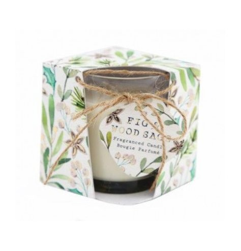 A festive themed candle from our new Alpine Fig and Woodsage scented range