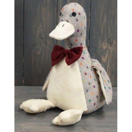 Dotty Duck Sitting Doorstop, 26cm
