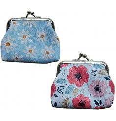 An assortment of botanical printed coin pouches