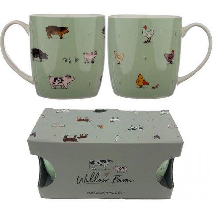 Set of 2 Willow Farm Mugs