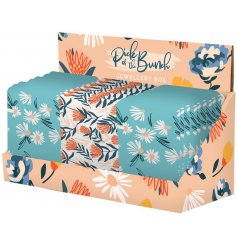 An assortment of botanical printed jewellery boxes, set with inner mirrors and a leatherette decal