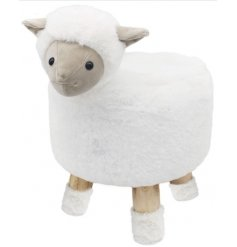 An adorable little woolly sheep Themed Stool, a perfect little furniture piece to add to a play room or nursery