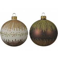 These white and bronze baubles are sure to bring a Luxe hint to any tree display at Christmas