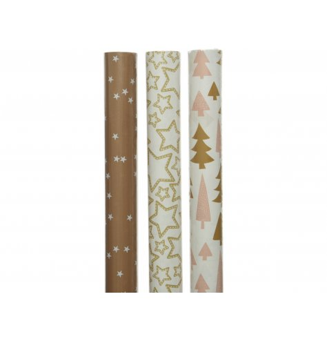 A mix of fun and festive themed wrapping paper roles, suitable for all shapes and sizes of presents!