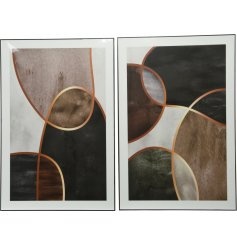 Bring a stylish and contemporary edge to any wall in your home with this sleek assortment of framed prints