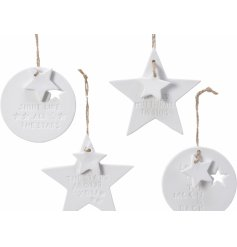 These sweetly scripted hangers are sure to bring a dainty and more personal hint to your tree at Christmas