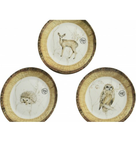 a mixed assortment of printed plates with added festive charm