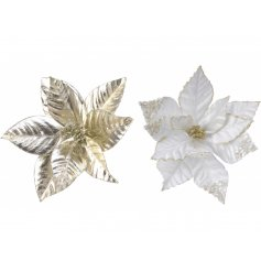 A stunning and simple mix of Poinsettia Clip decorations that can be placed on almost anything in the home at Christmas