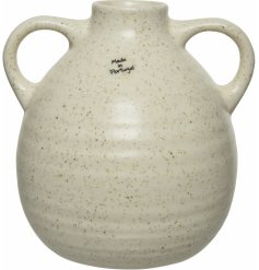a bold shaped Decorative Jug with a natural tone and speckle glaze to finish