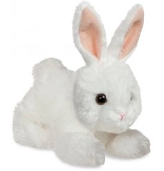 A perfect little cuddle companion for any child, an adorable bunny with white fur